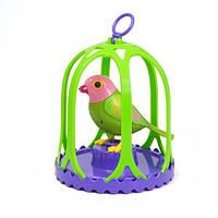 Игровой набор с интерактивной птичкой DigiBirds МАРГАРИТКА  в большой клетке, со свистком