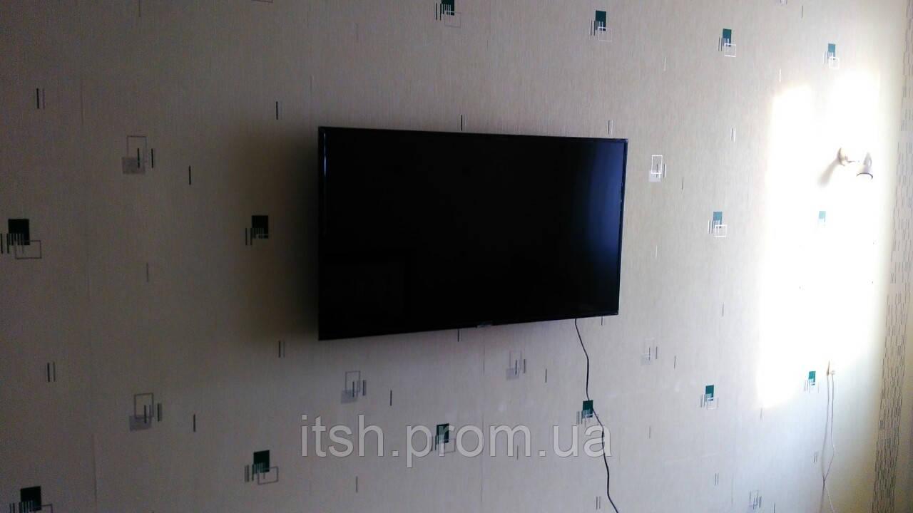Монтаж (установка) кронштейна под телевизор на стену, потолок, Харьков