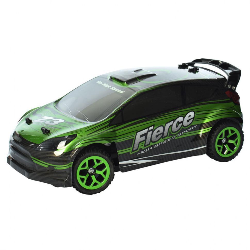 Детская гоночная машина на радиоуправлении Crazon, зеленая