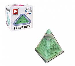 Головоломка зелёный лабиринт-пирамида (F-3(Green))