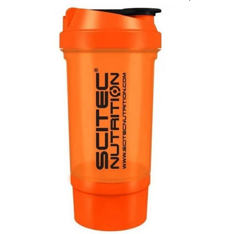 Шейкер Scitec Nutrition Traveller Orange 2 in 1 (ОРАНЖЕВЫЙ) (500мл. + контейнер)