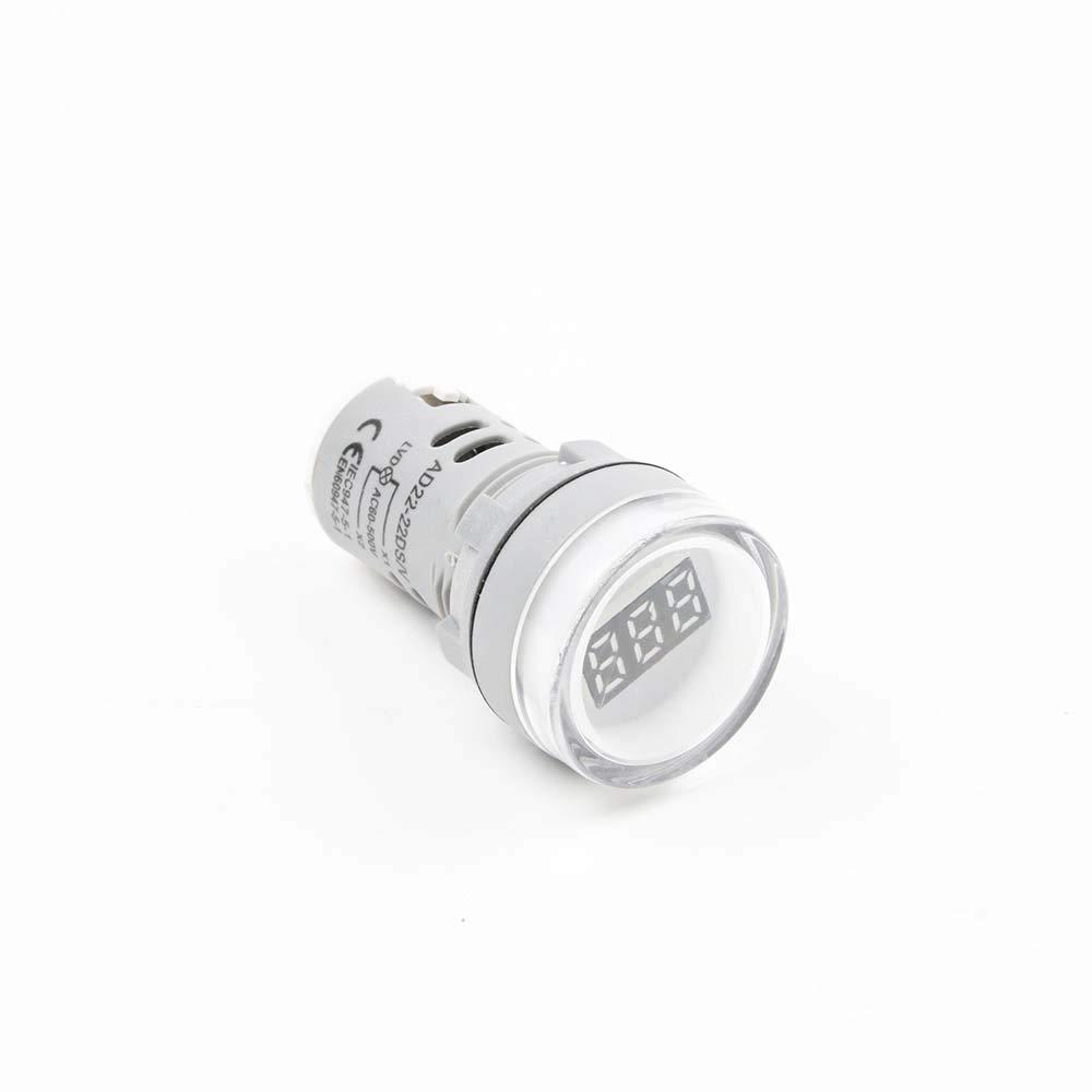 Вольтметр AC 22мм 60-450В - білий