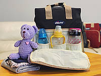 Сумка - рюкзак для мам Chicco Чико  ⏩ черный цвет