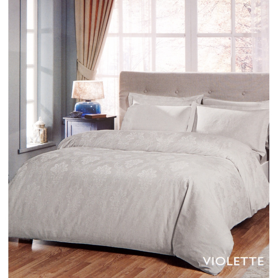 Постельное белье Tac жаккард - Violette tas серый евро