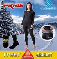 Женское термобелье коламбия, Columbia Omni Heat,цвет цвет черный XS