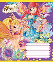 Тетрадь ученическая А5/12 косая линия 1 Вересня Winx Fairy-15, фото 1