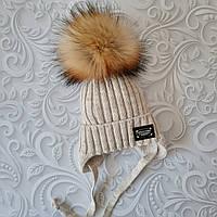 Детская шапка Philipp Plein с бубоном, зима, фото 1