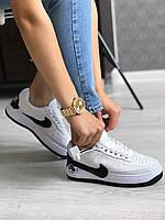 Женские Кроссовки Nike Air Force 1 Jester XX White Black Белые Найк