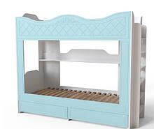 Двоповерхове ліжко Art-In-Head AЛ-12 Amelie Блакитна Лагуна 2178х848х1760