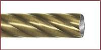 Кованый карниз-Труба крученая 25мм -2,4м антик