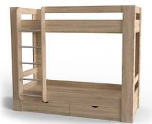 Двоповерхове ліжко Art-In-Head AЛ-13 РОКАШ дуб сонома 2332х1032х1880