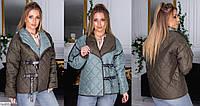 Модная молодежная демисезонная короткая куртка, размеры 48-52, 54-58