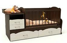 Дитяче ліжко Art-In-Head АЛ-15 СОН Венге+білий 1732х950х732