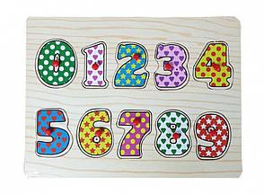 Деревянные пазлы-вкладыши Цифры (MD 0646 )