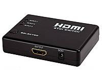 HDMI switch 3х1 (3-х портовый переключатель)