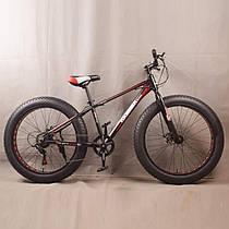 """Гірський велосипед фэтбайк S800 26 дюймів HAMMER EXTRIME Чорно червоний рама 17"""""""
