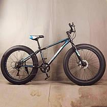 """Горный велосипед фэтбайк 26 дюймов  S800 HAMMER EXTRIMEЧерно синий рама 17"""""""