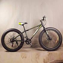 """Гірський велосипед фэтбайк 26 дюймів S800 HAMMER EXTRIME Чорно зелений рама 17"""""""