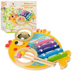 Деревянная игрушка HUANXIBEIER Ксилофон MD 0903