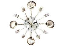 Кухонные часы Ложки вилки 35 см  Белый