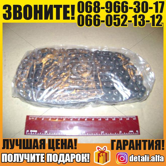 Цепь привода вала распредилительного ГАЗ двигатель 406 (комплект под башмак) DITTON, фирм.упак. (покупной ЗМЗ) (арт. 406.1000118-01)