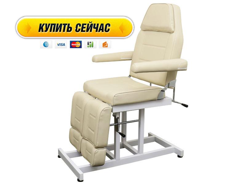 Педикюрне крісло, Кушетка косметологічна стаціонарна з роздільною ножний частиною BS-246Т