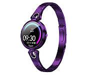 Фітнес годинник Cobrafly AK15 тонометр пульсомір жіночі  Фіолетовий