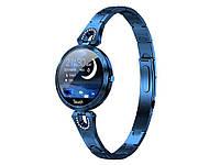 Фітнес годинник Cobrafly AK15 тонометр пульсомір жіночі  Синій