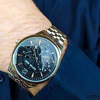 Часы мужские. Мужские наручные часы серебристые. Часы с черным циферблатом Годинник чоловічий