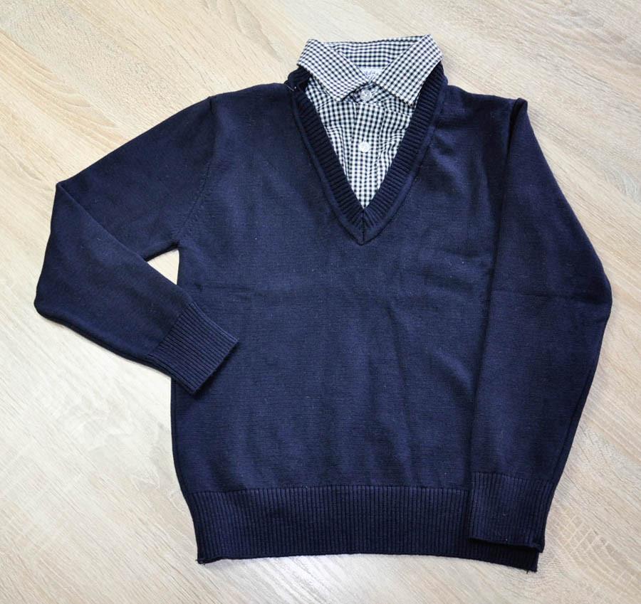 Реглан-обманка синего цвета для мальчика, ADA YILDIZ