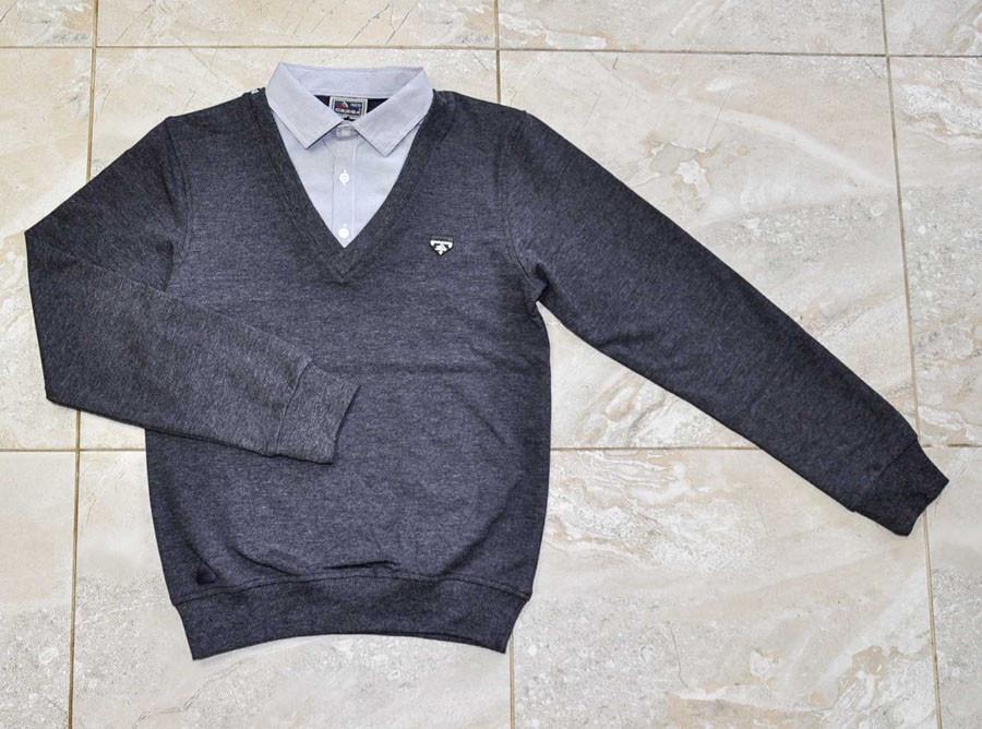 Реглан-обманка серого цвета для мальчика, CEGISA