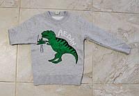 Свитер серого цвета Динозавр для мальчика, KBB