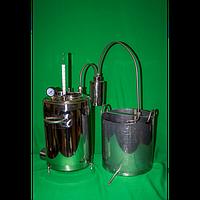 Самогонный дистиллятор открытого типа, нержавеющая сталь, объем 21л, краник для слива