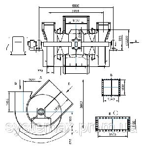 ДН-22x2 дымосос двустороннего всасывания, фото 2