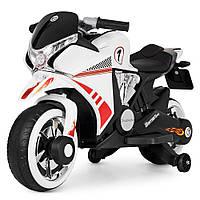 Детский мотоцикл на аккумуляторе Bambi M 3682L-1 белый