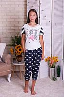 Женская пижама  с капри  Nicoletta  82410