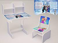 Детская парта школьная растишка со стулом  Фроузен (Холодное Сердце) 110, фиолетовая ***
