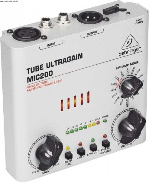 Микрофонные предусилители MIC 200 TUBE ULTRAGAIN