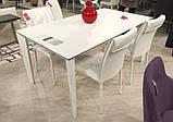 Стол обеденный LIVERPOOL S 140/185/230*85 керамика белый глянец Nicolas (бесплатная доставка), фото 2