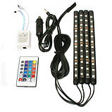 🔥✅ Универсальная автомобильная RGB led подсветка LED AMBIENT HR-01678, RGB подсветка для авто, влагозащитная, фото 5