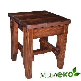 Табурет кухонный твердый под старину  из натурального дерева.