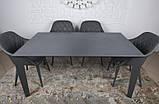 Стол обеденный LIVERPOOL S 140/185/230*85 керамика графит Nicolas (бесплатная доставка), фото 4