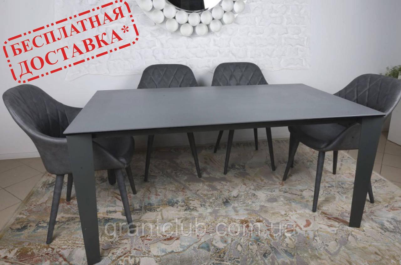 Стол обеденный LIVERPOOL S 140/185/230*85 керамика графит Nicolas (бесплатная доставка)
