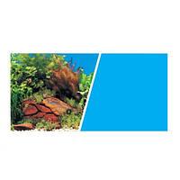Hagen Marina Plants with Rocks Scene-Solid Light Blue двусторонний фон для аквариума 45см х 7.5м