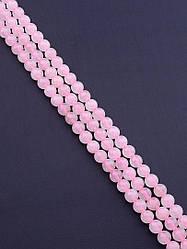 Нить натурального камня розовый кварц без замка заготовка для бус и браслетов 37 см  8 мм