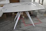 Стол обеденный COVENTRY керамика белый 130/200*89.5 Nicolas (бесплатная доставка), фото 7