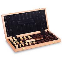 Шахматы, шашки 2 в 1 деревянные (52 x 52см) W9052