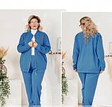 Мягкий повседневный костюм-двойка 14147-1-джинс, фото 2