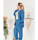 Мягкий повседневный костюм-двойка 14147-1-джинс, фото 3