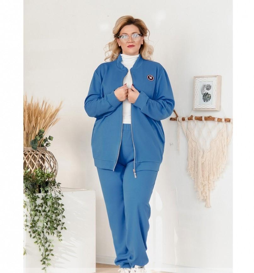 Мягкий повседневный костюм-двойка 14147-1-джинс